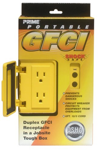 Shock Safe® Portable Duplex Outlet G.F.C.I. Junction Box - GF200806