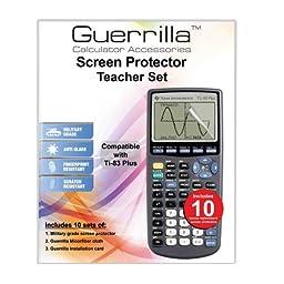 Guerrilla TI-83 Screen Protectors - Classroom Pack of 10