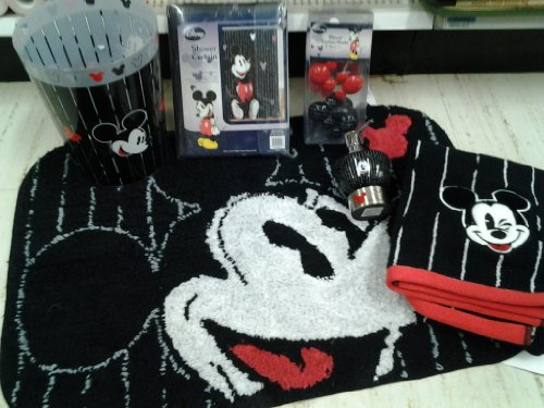 mickey mouse bathroom set this is a 16 piece mickey mouse bathroom ...