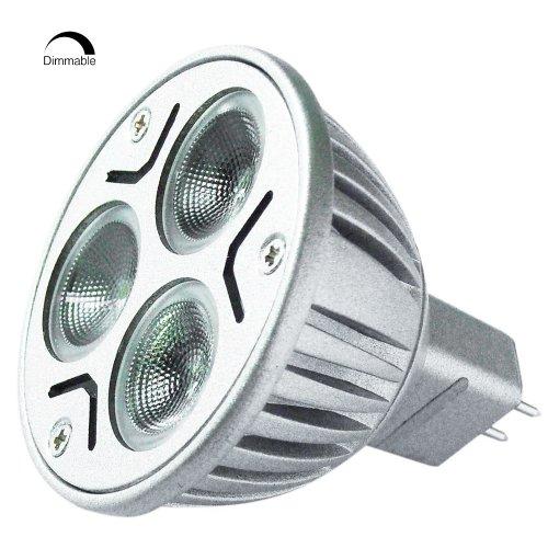 Dimmable 12V 3W Mr16 Led Bulb - 2700-3200K Warm White Led Spotlight - 30Watt Halogen Equivalent - 220Lm 30 Deg. Beam Angle