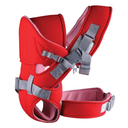 Ecosusi 6 In 1 Versatility Front And Back Best Baby Carrier(Red)