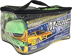 Majic Microfiber Portable Car Wash Kit (8 Pieces) by Majic Products, Inc.