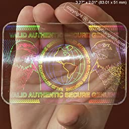 25 ID Cards Security Hologram Overlay Stickers with Micro Secure Technology SHID-02 \