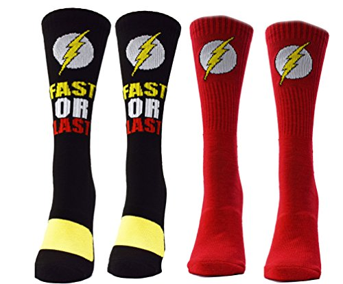 flash-logo-2-pairs-pack-mens-athletic-crew-socks-red-one-size