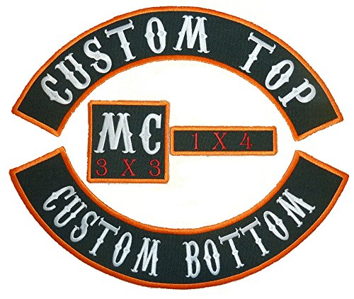 "Why Should You Buy Custom Patch Set - 13"" Top & Bottom Rockers, 1x4 Name Tag and 3"" Sq..."