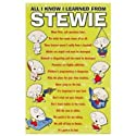 "Family Guy All I Know I Learned From Stewie Poster22"" x 34"""