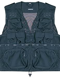 HUMVEE HMV-VC-BK-3XL 3X-Large Nylon Combat Vest with Safety Zipper, Black