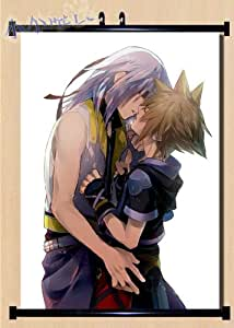"""Kingdom Hearts Anime Fabric Wall Scroll Poster (24""""x32"""") Inches Costum-made Cosplay"""