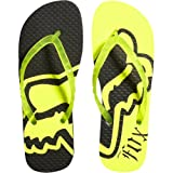 Fox Racing Core Flip Flop Girls Sandal Slipper Footwear - Day Glo Yellow / Size 6