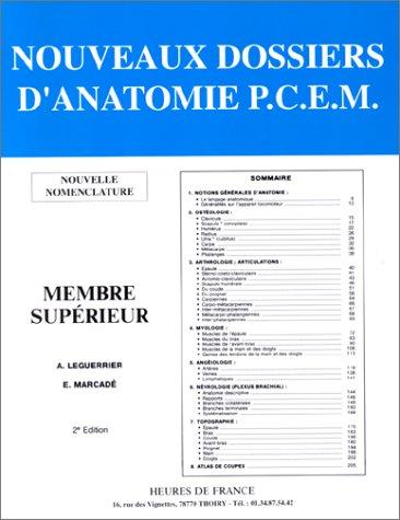 NOUVEAUX DOSSIERS D'ANATOMIE , MEMBRES SUPERIEURS