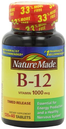 Nature Made Vitamin B-12 Timed Release Tablets, Value Size, 1000 Mcg, 160 Count