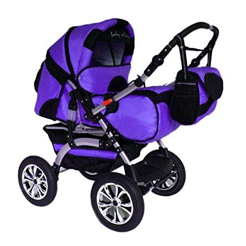preisvergleich und test kinderwagen kombikinderwagen buggy hartgummmir der szymek lux lila schwarz. Black Bedroom Furniture Sets. Home Design Ideas
