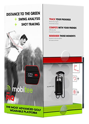 PIQ Golf Sensor GPS Shot Tracker + Swing Analysis + Golf GPS/Rangefinder