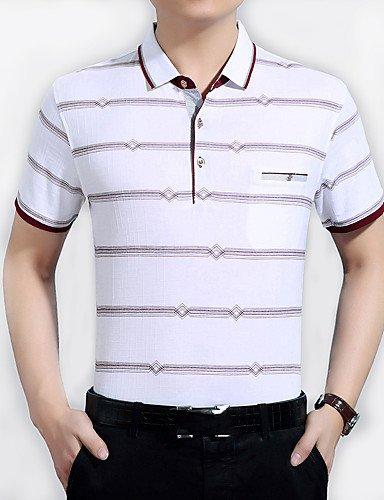 &G&g& 2016 T-shirt Uomo Casual / Da ufficio Con stampe Manica corta Cotone , cream-2xl , cream-2xl