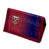 West Ham United FC Football Team Fade Velcro Fasten Wallet