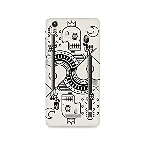 Mobicture Skull Abstract Premium Printed Case For Lava Pixel V1