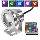 LTC ® 10W RGB Unterwasser LED Flutlicht Wasserdicht Gartenlampe Außenstrahler