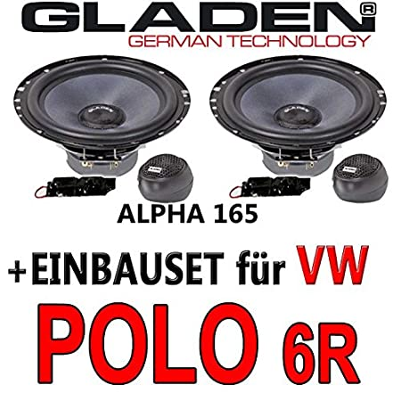 VW Polo 6R - Gladen ALPHA 165 - 16cm Kompo-System - Einbauset