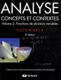 Analyse, concepts et contextes : Volume 2, Fonctions de plusieurs variables