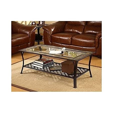 Accent Coffee Table Is Made of Slate, Glass and Steel. It's Both Sturdy and Elegant That'll Enhance Your Home.