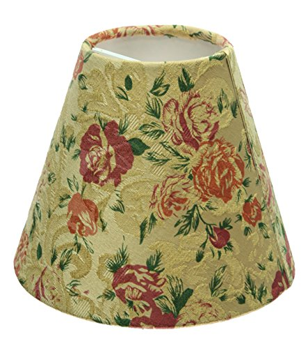 Aspen creative 32003 hardback clip on shade floral home garden lighting accessories lamp shades - Creative lamp shades ...