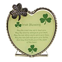 Irish Candle Holder with Irish Blessing and Shamrocks. Gift for Any Occasion. Verse Reads