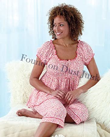 Unique's Shop Plus-Size Knit Capri Pajama Sets-Pink 1X 18/20 at Sears.com