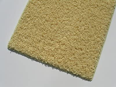 "Area Rug. Light Yellow carpet. 37 oz TWISTED SHAG FRIEZE. Many sizes and 20 vibrant ""mod"" colors to choose from."