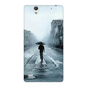 Stylish Beautiful Walking Rain Multicolor Back Case Cover for Sony Xperia C4