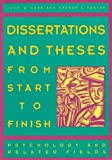 Dissertations and theses from start to finish :  psychology and related fields /
