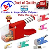 Potato/Vegetable Chipser French Fries & Finger Chips Cutter / Potato Chopper / Slicer With Container Made From...
