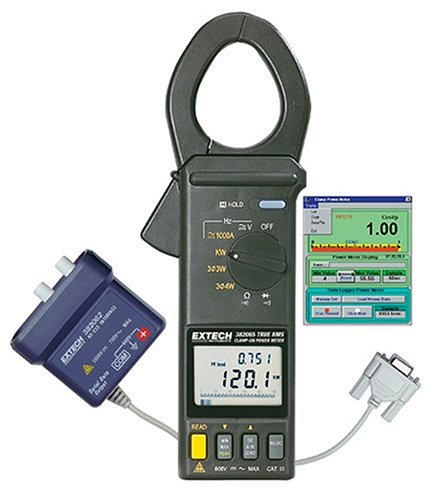 Extech 382068 1000 Ampere True RMS Power Datalogger with RS232 Computer Interface