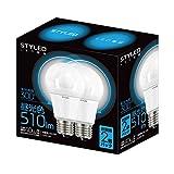 スタイルド LED電球 E26口金 2個パック 一般電球 全方向タイプ 6.5W 510lm (昼光色相当・電球40W相当) LLDAD7O1P2