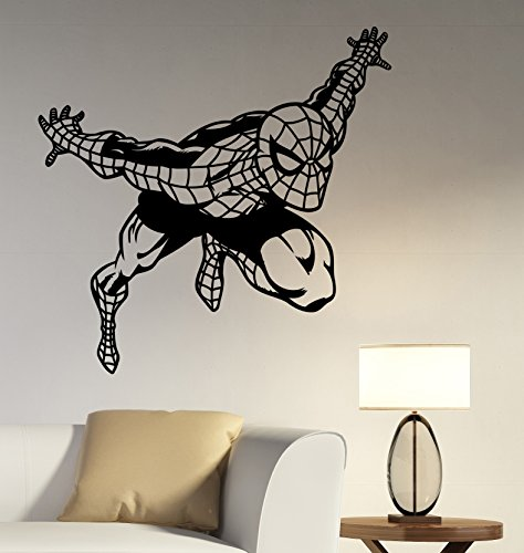 Wall Sticker Spiderman Vinyl Decal Marvel Superhero Art Decorations for Home Kids Boys Room Bedroom Playroom Decor spm4