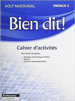 Holt French 2 Bien Dit Online Textbook