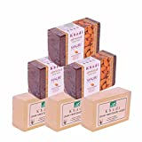 Khadi Mauri Aloe-Vera & Almond Soap Combo - Triple Pack of 6 - Herbal Handcrafted
