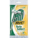 BIC Twin Select, Sensitive Skin, Disposable Shaver for Men, 10-Count Packages (Pack of 3)