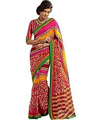 CSE Bazaar Women Indian Beautiful Fancy Beautiful Women Party Wear Saree - B00SO6OY5E