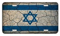 Israel Flag Crackled Design License Plate