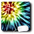 3dRose LLC 8 x 8 x 0.25 Inches Mouse Pad, Tie Dye Dark Starburst in Several Color (mp_19211_1)