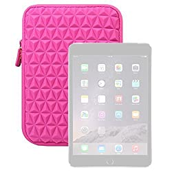 iPad Air Sleeve, Evecase Super Soft Cushion Vertical Neoprene Sleeve Case Zip Pouch for Apple iPad Air 2 (iPad 6) / iPad Air (iPad 5), iPad 4, iPad 3, and iPad 2 - 9.7 inch Tablet (Hot Pink)