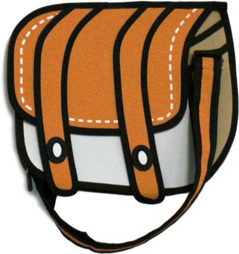 平面 の イラスト のように見える お洒落 な ショルダーバッグ チーズ ( オレンジ )