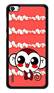 """Humor Gang Cute Monkey Pattern Printed Designer Mobile Back Cover For """"Huawei Honor 6"""" (3D, Glossy, Premium Quality Snap On Case)"""
