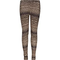 FULL TILT Zig Zag Print Girls Leggings