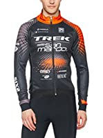 Santini Maillot Ciclismo (Gris Oscuro / Naranja)