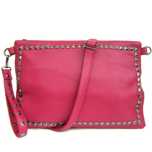 Designer Inspired Soft Studded Fuchsia Cross