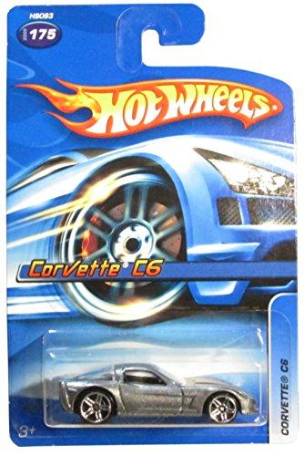 HOT WHEELS 2005 RELEASE GRAY CORVETTE C6 DIE-CAST, HOT WHEELS CORVETTE C6 DIE-CAST #175 IN THE COLLECTORS SERIES