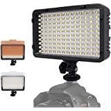 Mcoplus 130 LED Dimmable Ultra High Power Panel Digital Camera / Camcorder Video Light LED Light For Canon Nikon...
