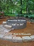 "Steel Metal Fire Pit Ring Liner Insert 36"" x 14"""