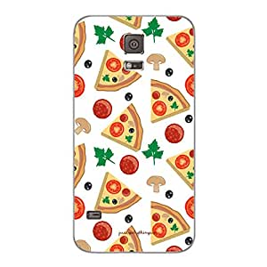 Designer Cute Phone Cover / Case for Samsung S5 - Pizza